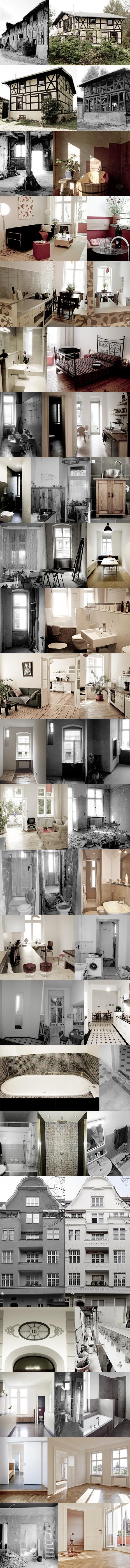 Fotos der Referenzen für die Planung